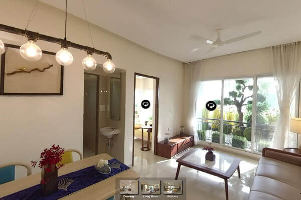 Ambika City 1BHK 360 Degree